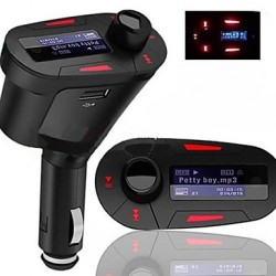Reproductor MP3 transmisor FM de mechero de coche