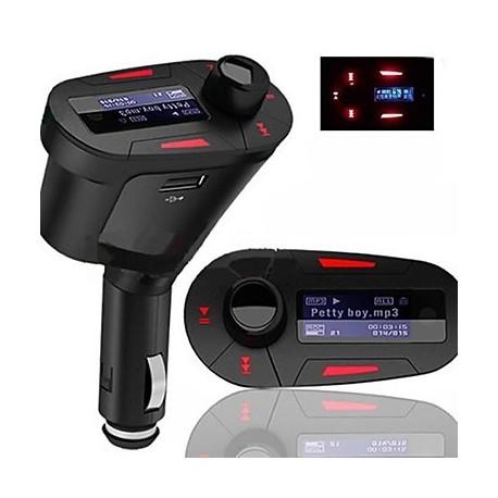 Reproductor MP3 transmisor FM de mechero de coche