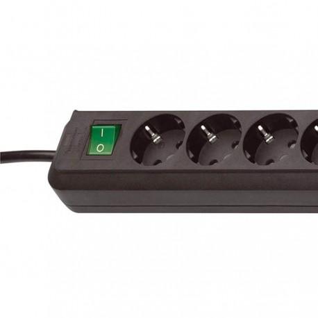 Regleta Eco Negro 10 tomas con interruptor