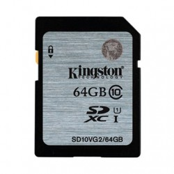 MEMORIA SD 64GB SDXC KINGSTON CLASE 10 UHS-I (U1)
