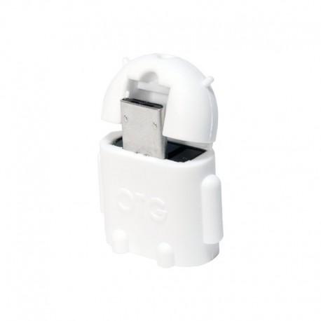 ADAPTADOR OTG MICROUSB-M A USB-H LOGILINK BLANCO