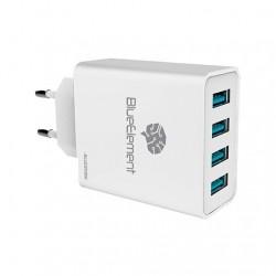 CARGADOR UNIVERSAL USB X4 BLUESTORK