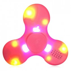 Spinner LED Speaker Rosa (bluettoth y luces led)