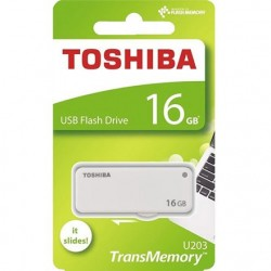 Pendrive 16GB TransMemory U203 Blanco Toshiba