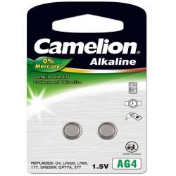 Pila Botón Alcalina LR66 1.5V 0% Mercurio (2 pcs) Camelion
