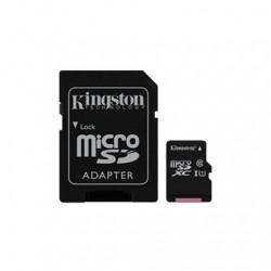 MEM MICRO SD 64GB KINGSTON CANVAS CL10 UHS-I+ADAPT