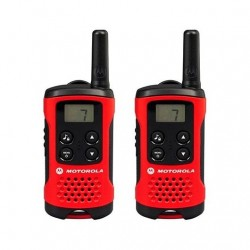 WALKIE-TALKIE MOTOROLA TLKR-T40 ROJO-NEGRO PACKS 2