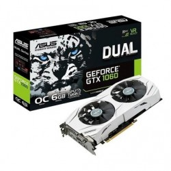 TARJETA GRÁFICA ASUS GEFORCE DUAL-GTX1060-6G - GPU OC 1708MHZ - 6GB GDDR5
